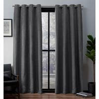 ATI Home Leeds Slub Woven Blackout Grommet Top Curtain Panel Pair