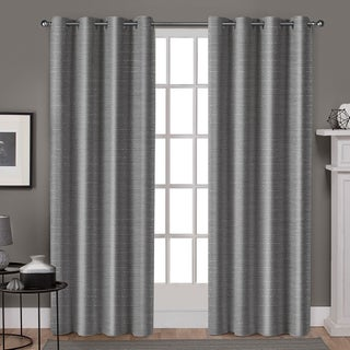 ATI Home Whitby Metallic Slub Yarn Curtain Panel Pair with Grommet Top (More options available)