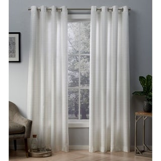 ATI Home Whitby Metallic Grommet Top Curtain Panel Pair
