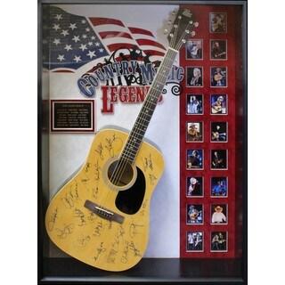 Country Music Legends - Signed Guitar USA Themed Custom Framed