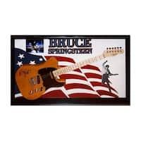 Bruce Springsteen Signed Guitar Custom Framed