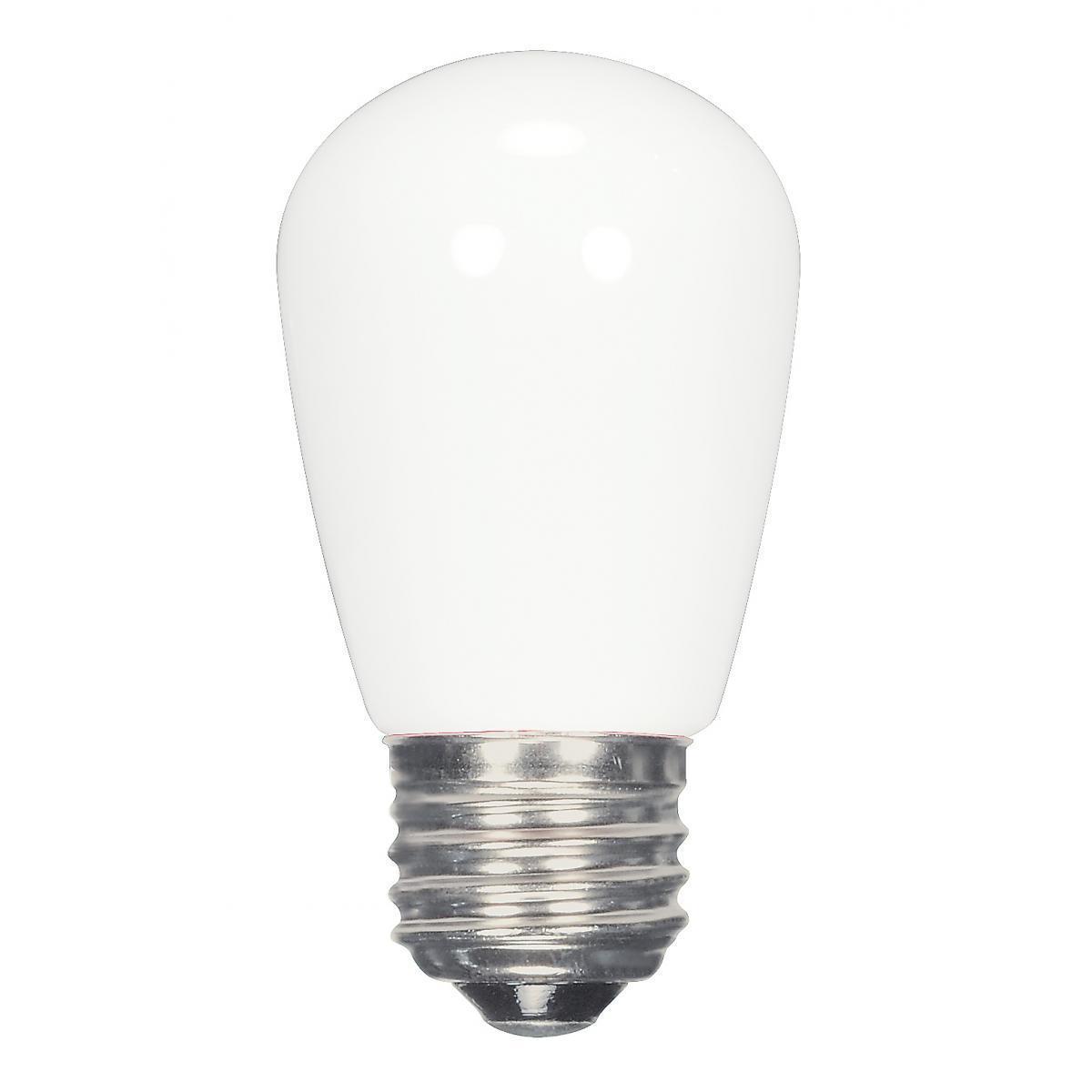 SATCO 1.4W LED S14 - Frost - Medium Base - 120V (Coated W...