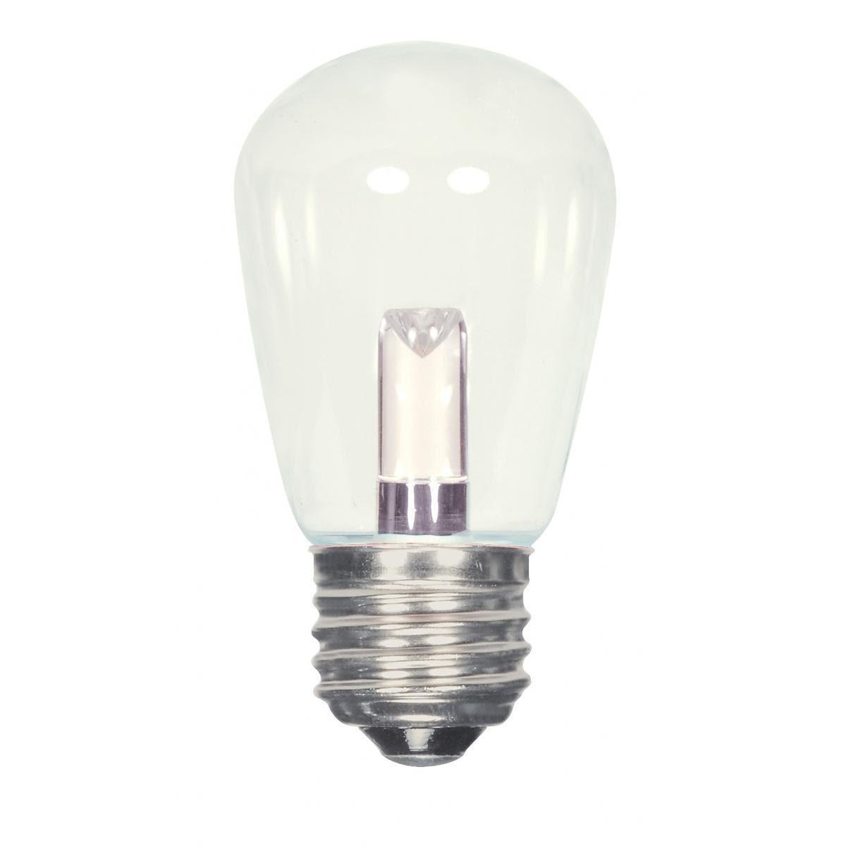 SATCO 1.4W LED S14 - Clear - Medium Base - 120V (Clear) (...