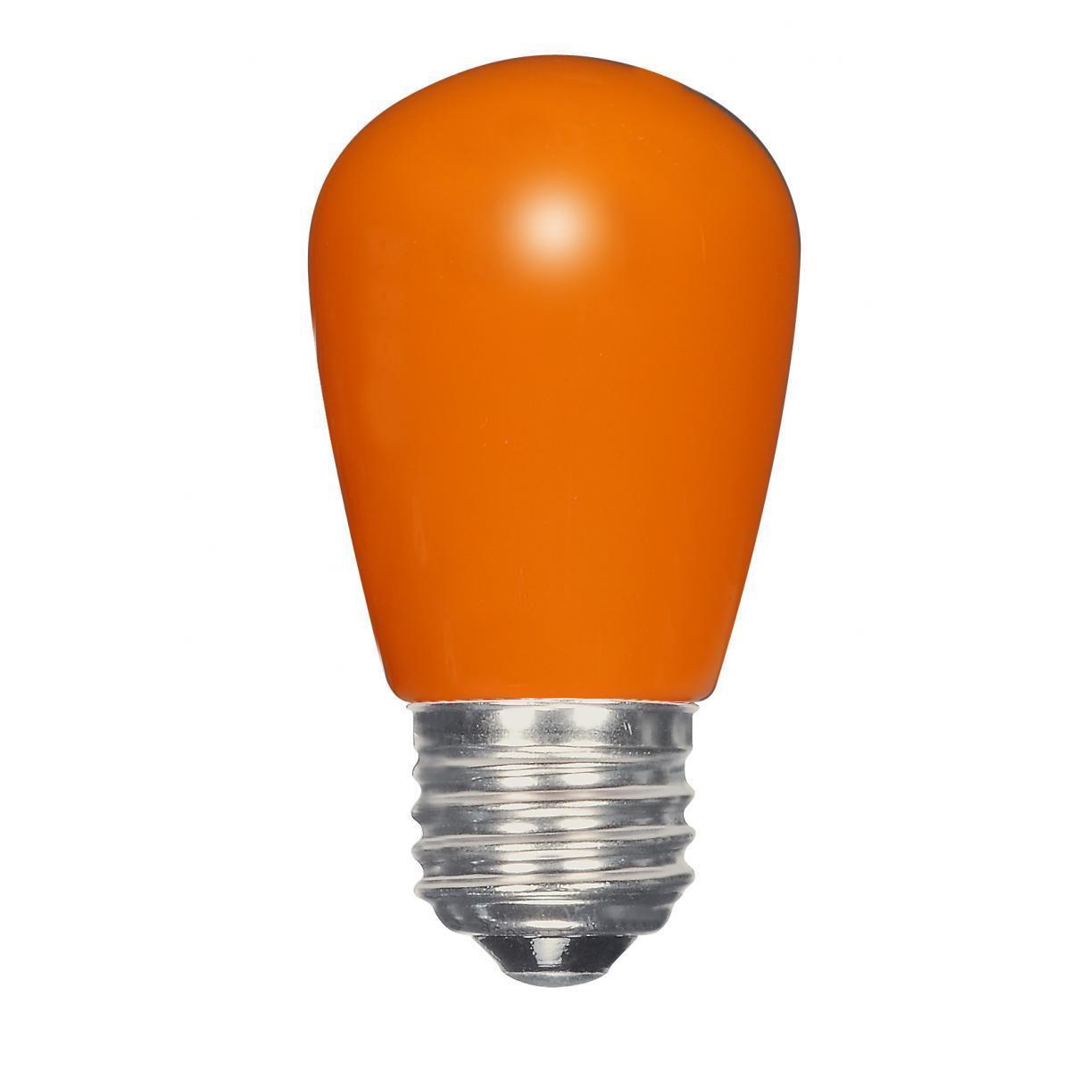 SATCO 1.4W LED S14 - Ceramic Orange - Medium Base - 120V ...