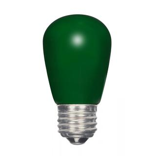 Satco 1.4W LED S14 - Ceramic Green - Medium Base - 120V