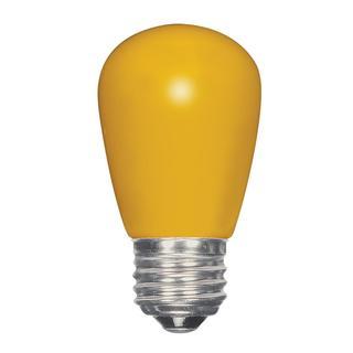 Satco 1.4W LED S14 - Ceramic Yellow - Medium Base - 120V