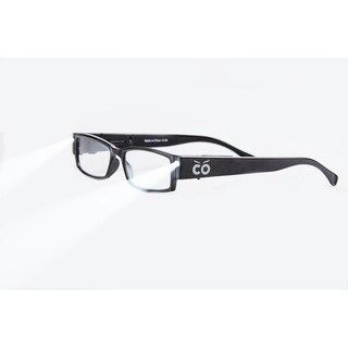 Multi Strength Eyeglass LED Reading Glasses Black S Optic By Finess