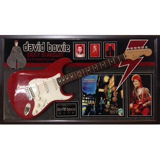 David Bowie Signed Guitar Ziggy Stardust Custom Framed