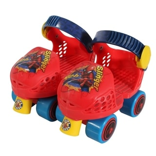 Playwheels Spider-Man Kids Rollerskate Junior Size 6-12 with Knee Pads