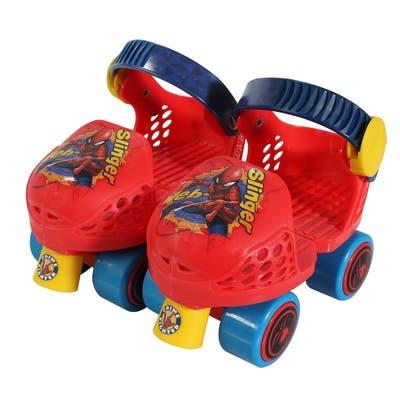 Playwheels Spider-Man Kids Rollerskate Junior Size 6-12 with Knee Pads
