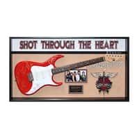 Bon Jovi Band Signed Guitar Shot Through The Heart Custom Framed