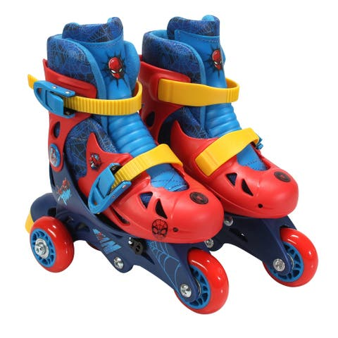 Playwheels Spider-man Convertible 2-in-1 Kids Skate Junior Size 6-9