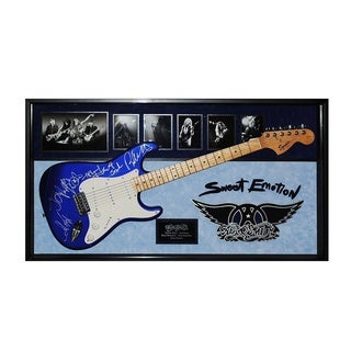 Aerosmith Signed Guitar Sweet Emotion Custom Framed