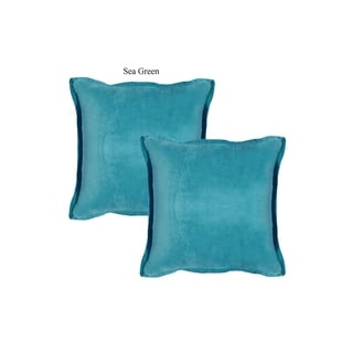 A1HC Hand-Crafted Solid Velvet 20 In. X 20 In. Designer Throw Pillows with Self Flange (Set of 2)