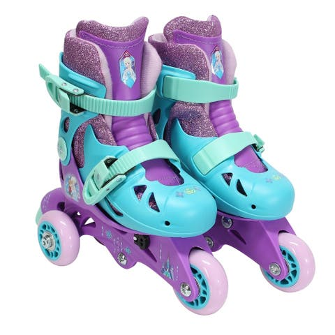 Playwheels Disney Frozen Convertible 2-in-1 Kids Skate Junior Size 6-9