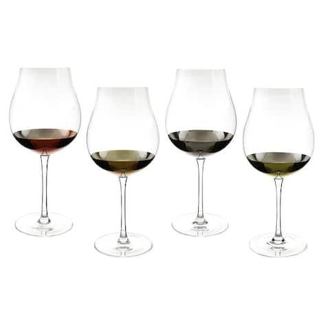 """4-Pc set of 9.5"""" wine glass, tulip shape"""