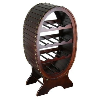 Brown wooden wine rack (Option: China)