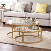 Harper Blvd Elisha Glam Nesting Cocktail Table 2pc Set - Gold