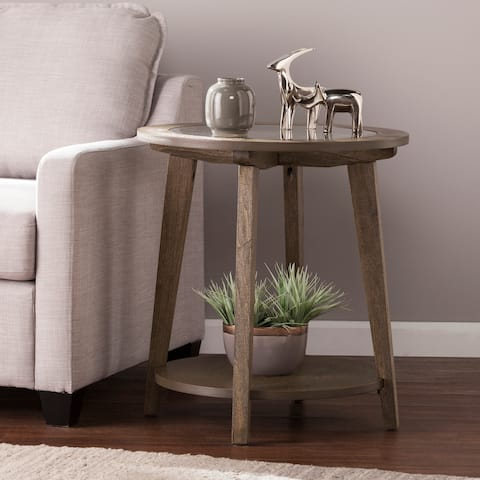 Harper Blvd Charlton Burnt Oak Round End Table