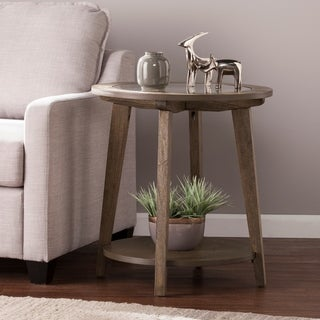 Harper Blvd Charlton Round End Table - Burnt Oak
