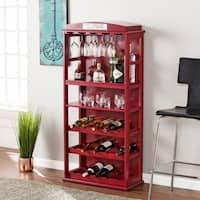 Clay Alder Home Gramercy Burgundy Bar Cabinet w/ Wine Storage