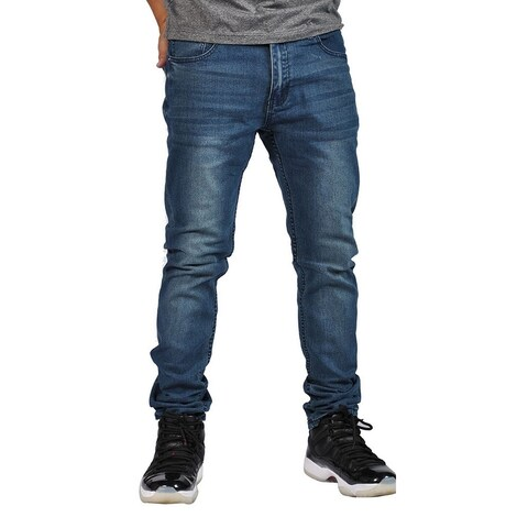 Indigo People Premium Quality Skinny Stretch Indigo Blue Jeans