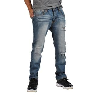 Indigo People Premium Quality Straight 5 YR Destroy Jeans|https://ak1.ostkcdn.com/images/products/18100615/P24257893.jpg?impolicy=medium