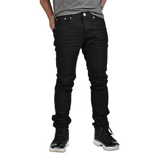 Indigo People Premium Quality Skinny Stretch Black Bake Jeans (Option: 34 Inch)