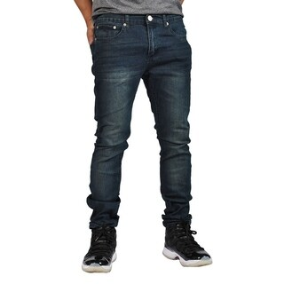 Indigo People Premium Quality Skinny Stretch Black Stone Jeans (Option: 34 Inch)