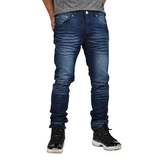 Indigo People Premium Quality Skinny Stretch Indigo Bake Jeans (Option: 34 Inch)