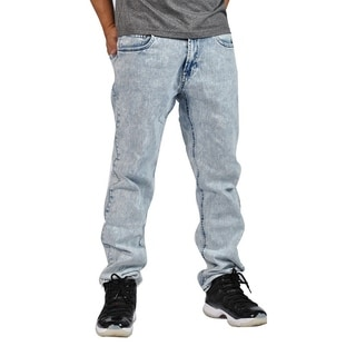 Indigo People Premium Quality Straight Light Acid Wash Jeans
