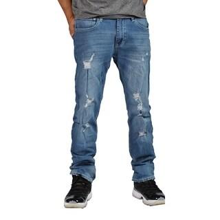 Indigo People Premium Quality Straight Medium Blue Jeans