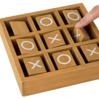Tic-Tac-Toe Small Wooden Travel Game with Fixed, Spinning Pieces - Traveling Board Game by Hey! Play! https://ak1.ostkcdn.com/images/products/18100622/P24257901.jpg?impolicy=medium