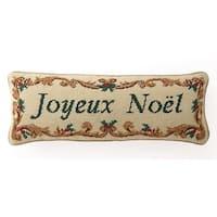 Joyeux Noel Needlepoint Pillow