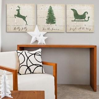 Christmas Silhouette -3 Piece Set
