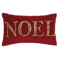 Noel Beaded Pillow