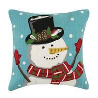 Snowman Crewel Pillow