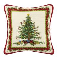 Sally Eckman Roberts Old Fashioned Christmas Tree Needlepoint Pillow