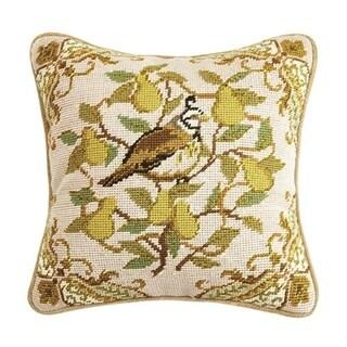Partridge Needlepoint Pillow