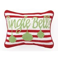 Jingle Bells Needlepoint Pillow