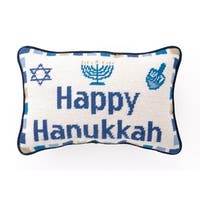 Happy Hanukkah Needlepoint Pillow