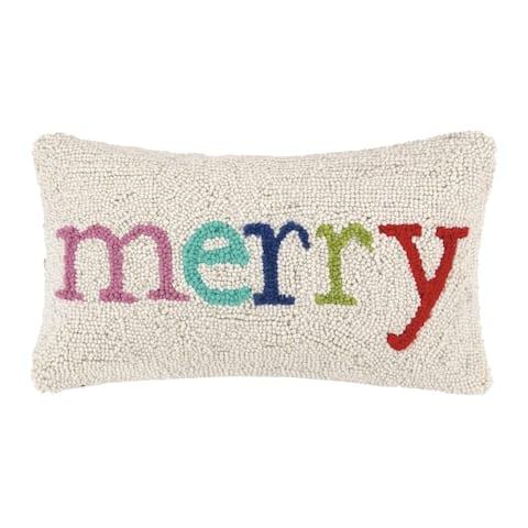 Merry Multi Christmas Hook Pillow