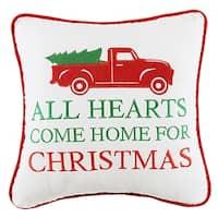 All Hearts Come Home For Christmas Velvet Pillow