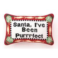Purrrfect Needlepoint Pillow