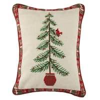 Sally Eckman Roberts Cardinal On Tree Needlepoint Pillow