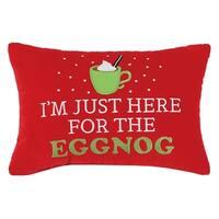 I'm Just Here For The Eggnog Velvet Pillow
