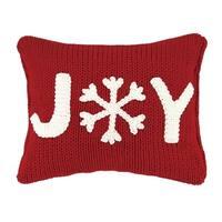 Joy Cable Knit Applique Pillow