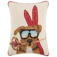 Mary Lake Thompson Dog With Ski Gear Hook Pillow