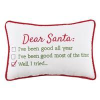 Dear Santa Well I Tried Velvet Pillow