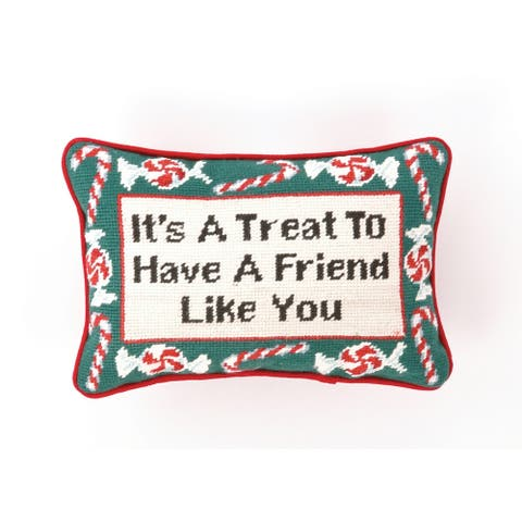 It's A Treat Needlepoint Pillow